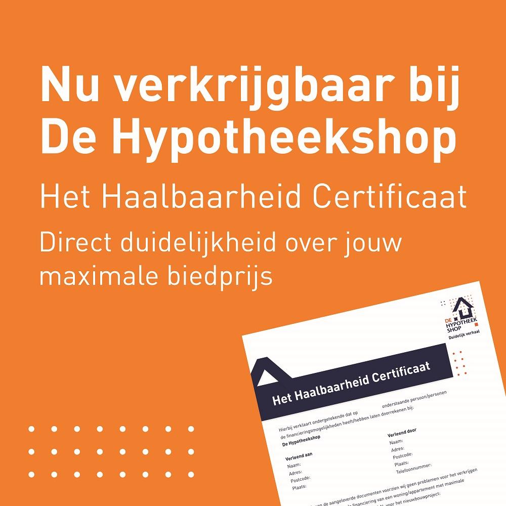 Haalbaarheid Certificaat De Hypotheekshop